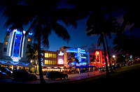 Art Deco GebŠude am Ocean Drive von Miami Beach 2008